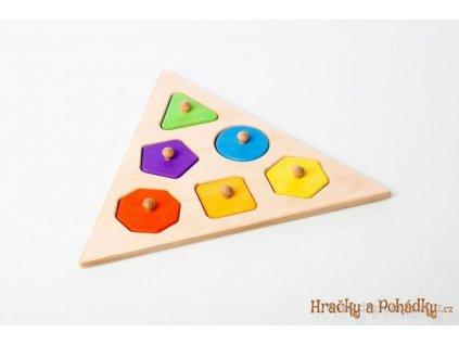 Dřevěná vkládačka pro nejmenší - trojúhelník