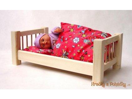 Dřevěná postýlka  pro velkou panenku přírodní