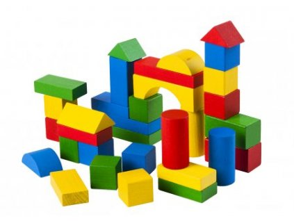 Dřevěná stavebnice - kostky 2cm - 100ks