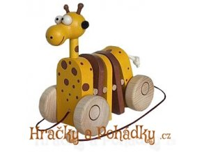 Dřevěná tahací a klapací žirafa