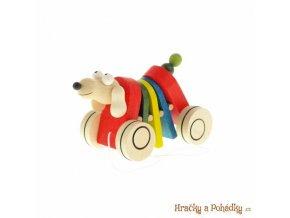 Dřevěný tahací a klapací pes