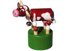Mačkací figurka - kráva s rolničkou