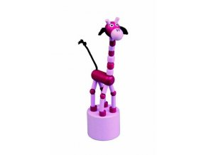 Mačkací figurka - žirafa růžová