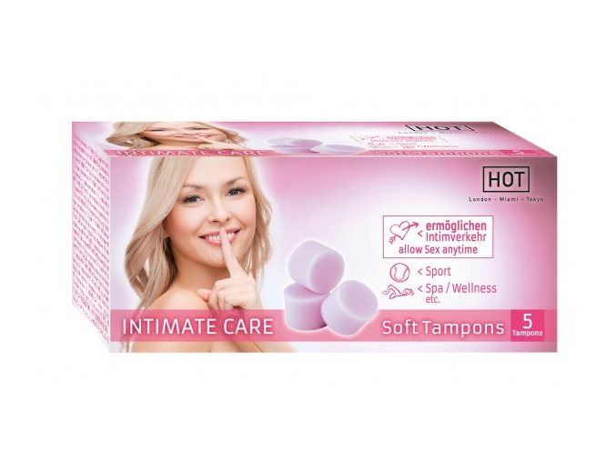 Tampony Hot Intimate CARE soft 5 ks