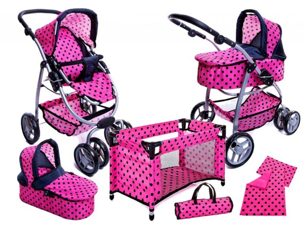 kocarek pro panenky 6v1 9662 růžový