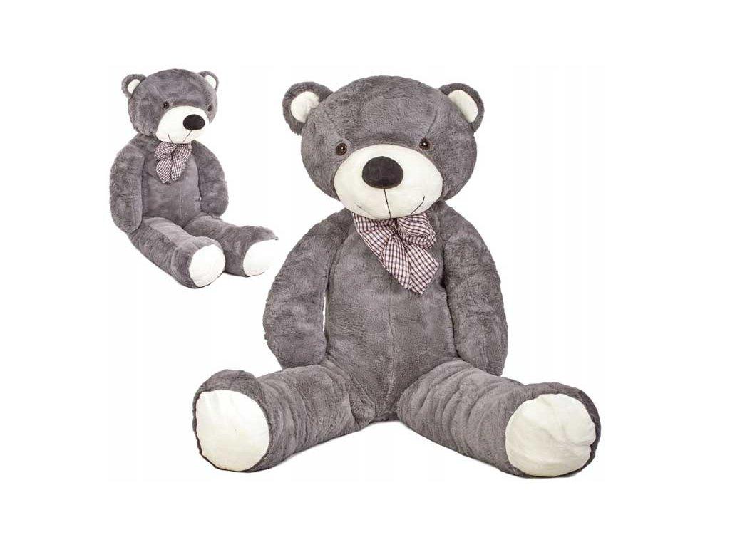 plyšový medvěd 130 cm šedý