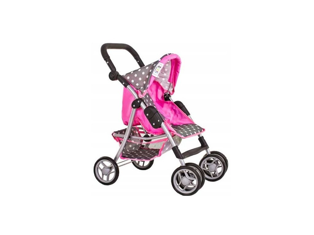 Doris sportovní kočárek pro panenku 9352 šedo růžový