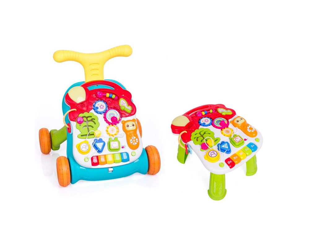 Doris chodítko s hracím stolečkem barevný