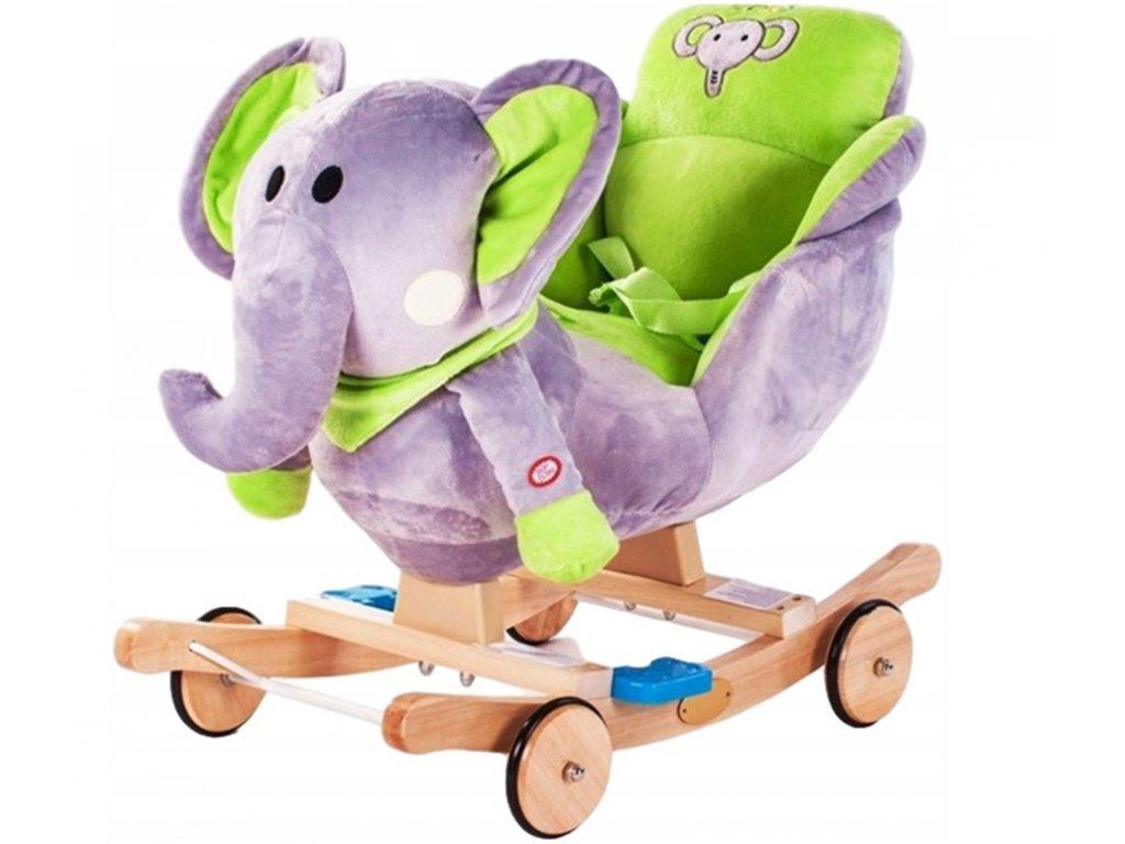 Nelly houpací křesílko slon zelený