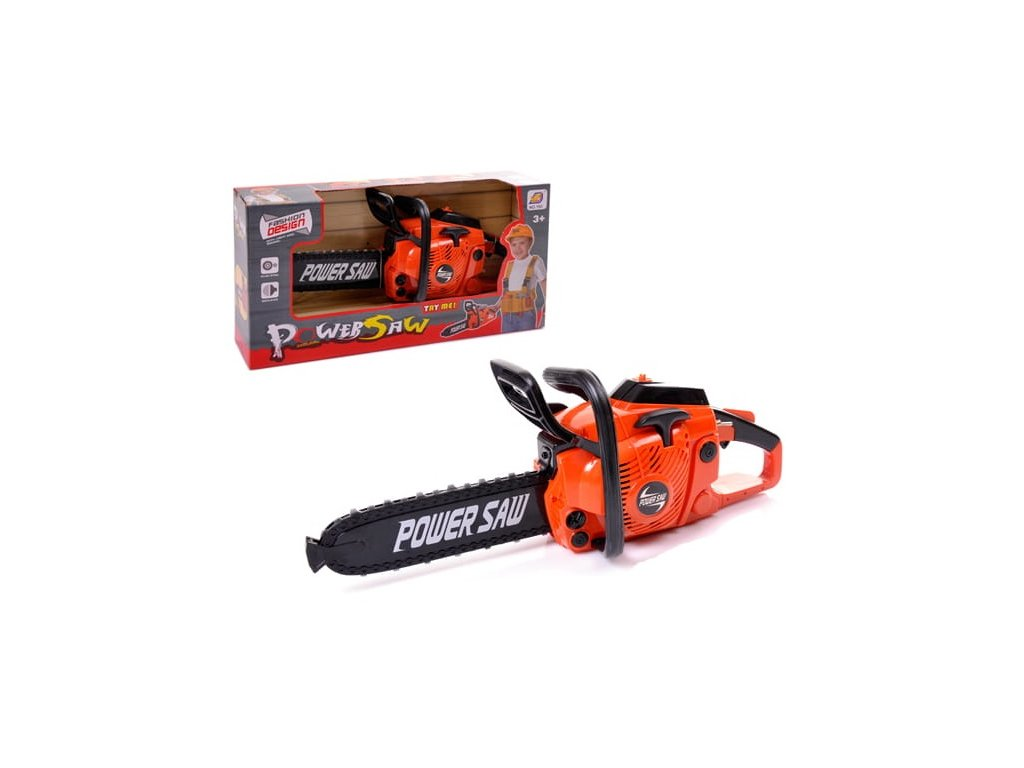 Dětská pila na baterie Power saw oranžová