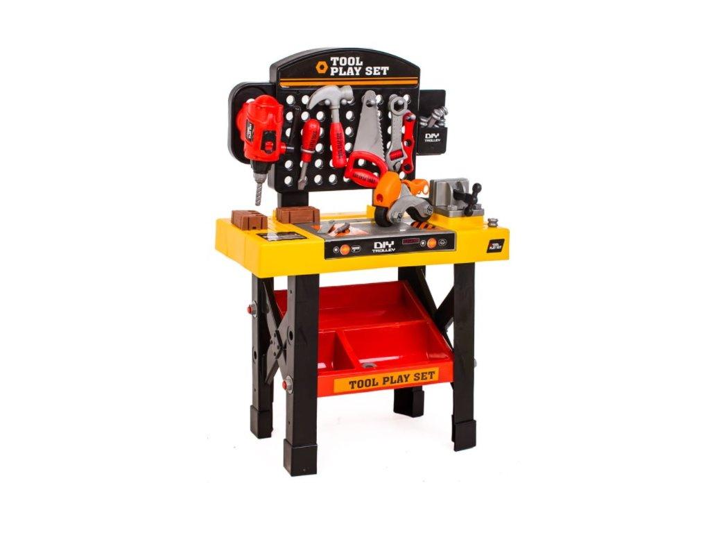 Dětský pracovní stůl s nářadím XXL oranžový (1)