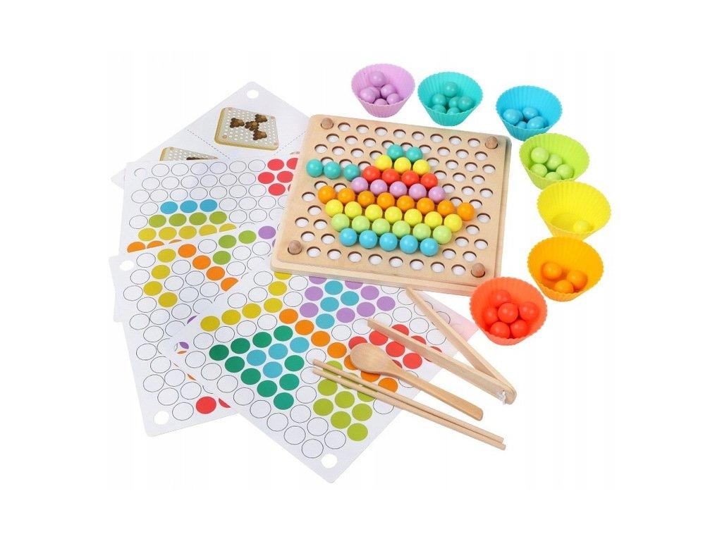 Dřevěná ukládácí sada Montessori (1)