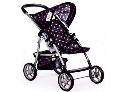 Doris dětský golfový kočárek pro panenky 9304 černý