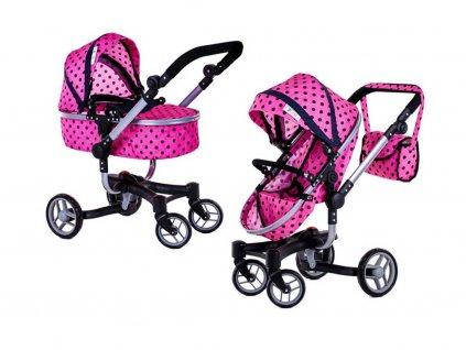 Doris kočárek pro panenky 9694 růžová