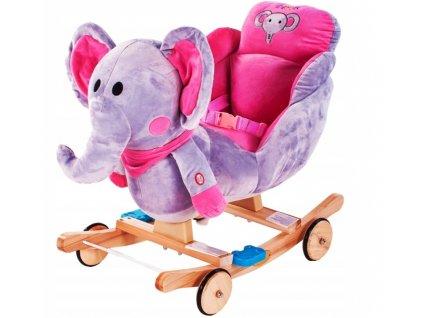 Nelly houpací křesílko slon růžový
