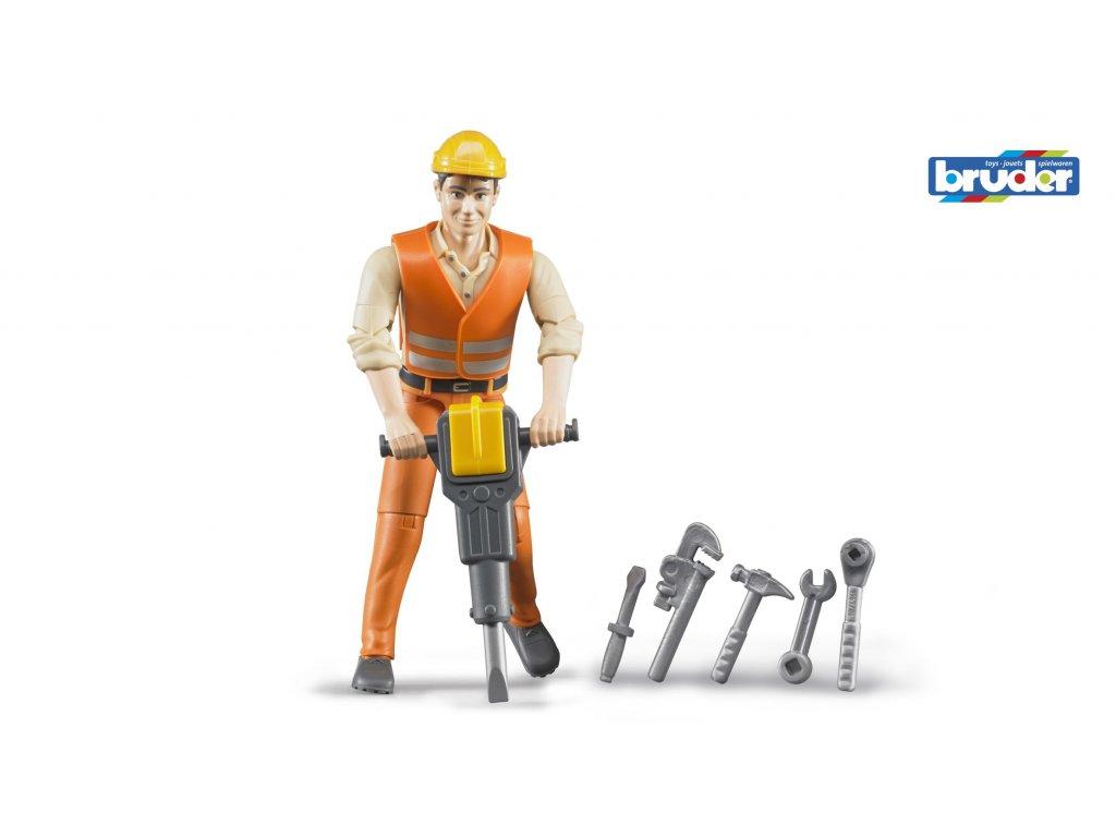 BRUDER 60020 Figurka stavební dělník