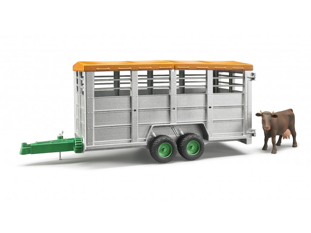 BRUDER 2227 Přepravník na zvířata + figurka kráva