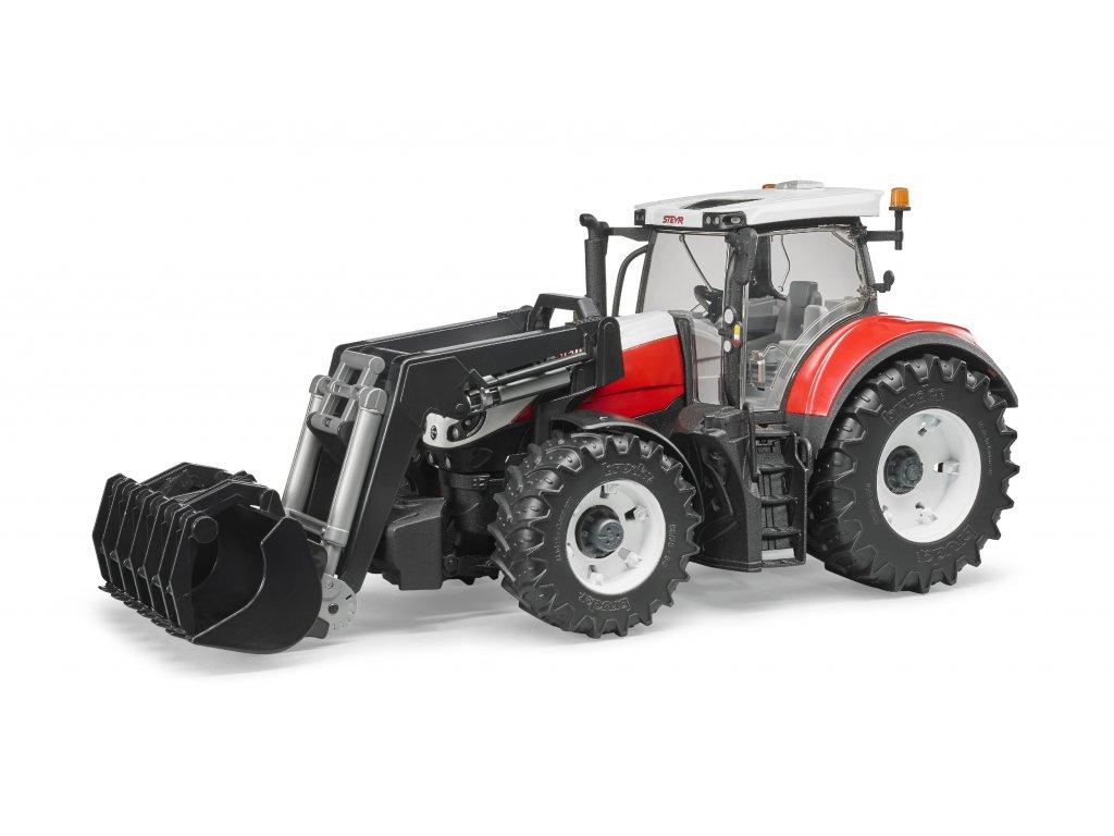 BRUDER 3181 Traktor STEYR 6300 Terrus + čelní nakladač
