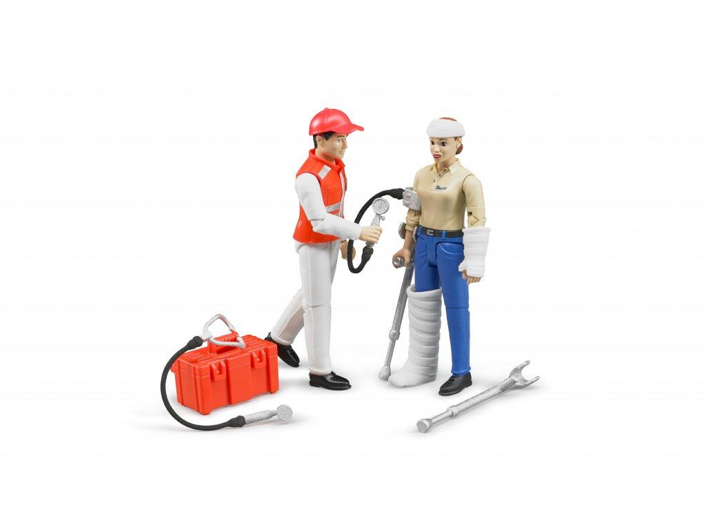 BRUDER 62710 Figurky - zdravotnický set