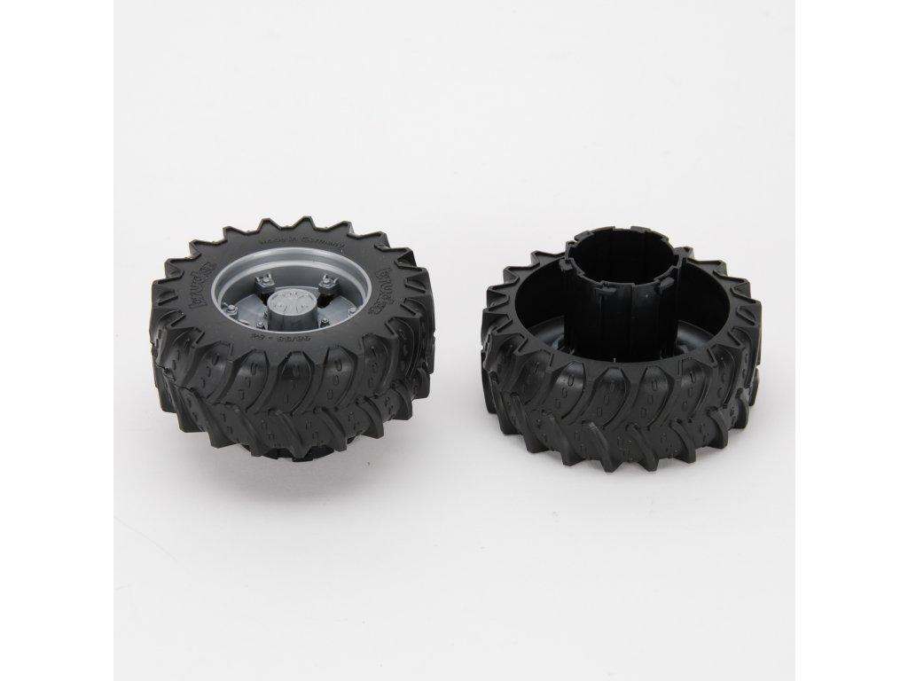 Náhradní díl pro Bruder BR 03030 - disky a pneumatiky s adapterem 2ks