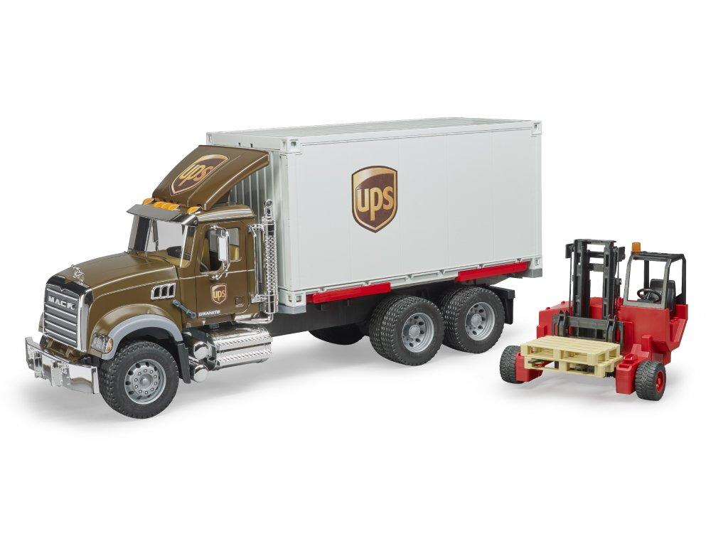 BRUDER 2828 Nákl.auto MACK Granite - UPS Logistik