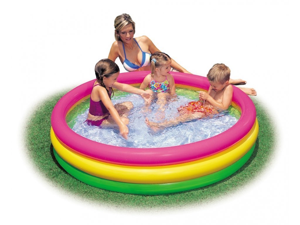 Intex bazén duhový 114x25cm