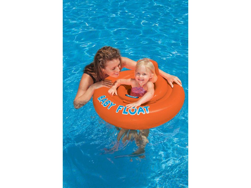 Intex sedátko dětské do vody, červené