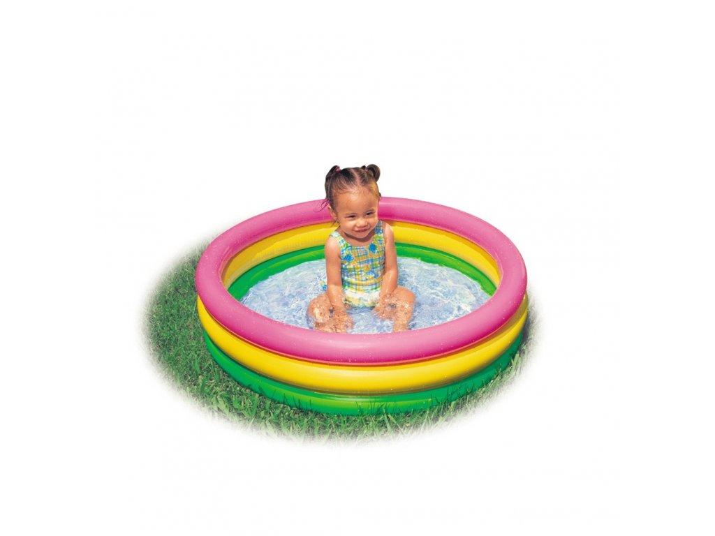 Intex bazén barevný 3 kruhový, 86x25cm