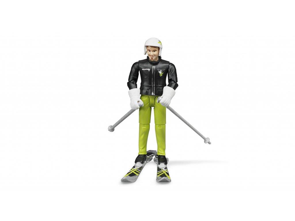 BRUDER 60040 Figurka - lyžař s příslušenstvím