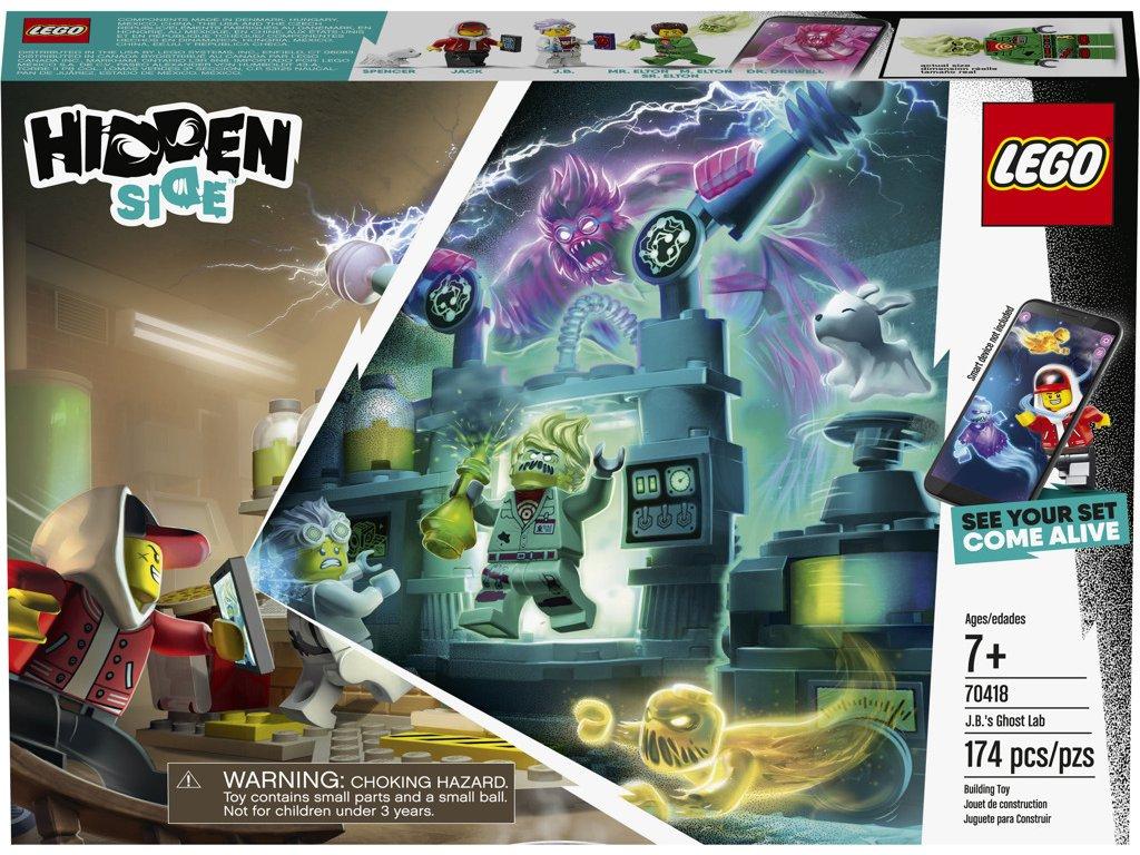 LEGO 70418 Hidden Side J. B. a jeho laboratoř plná duchů
