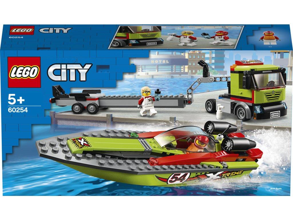 LEGO 60254 City Přeprava závodního člunu