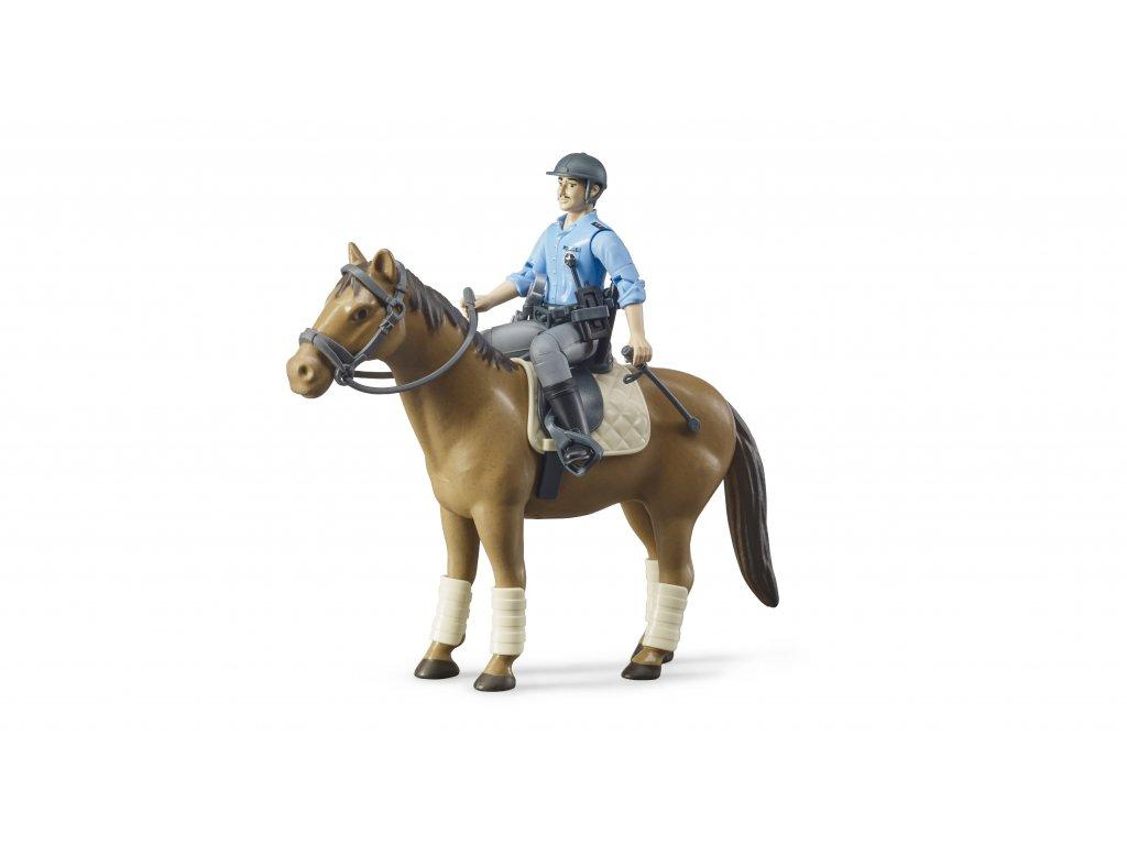 BRUDER 62507 Figurka - policista, kůň