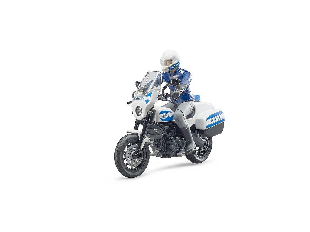 BRUDER 62731 Figurka - policejní motocykl Ducati
