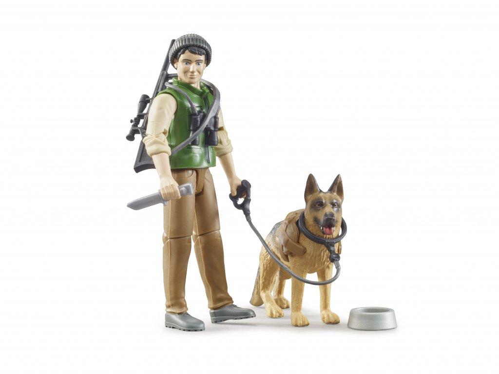 BRUDER 62660 bworld figurka - lesník, pes