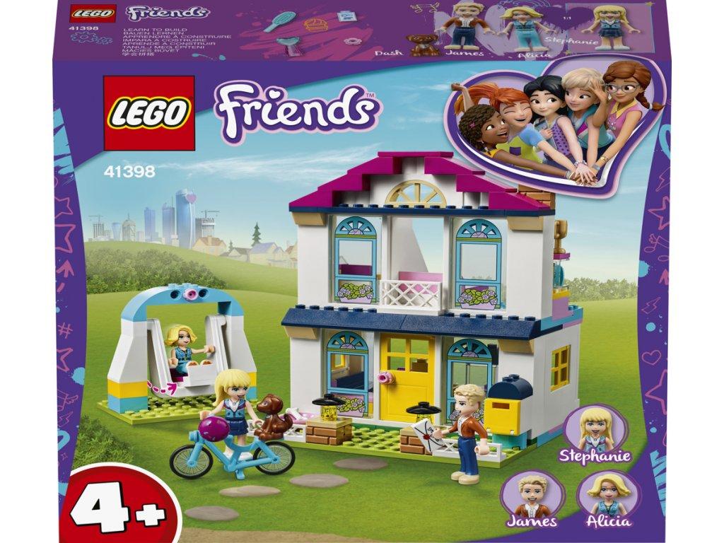 LEGO 41398 Friends Stephanie a její dům