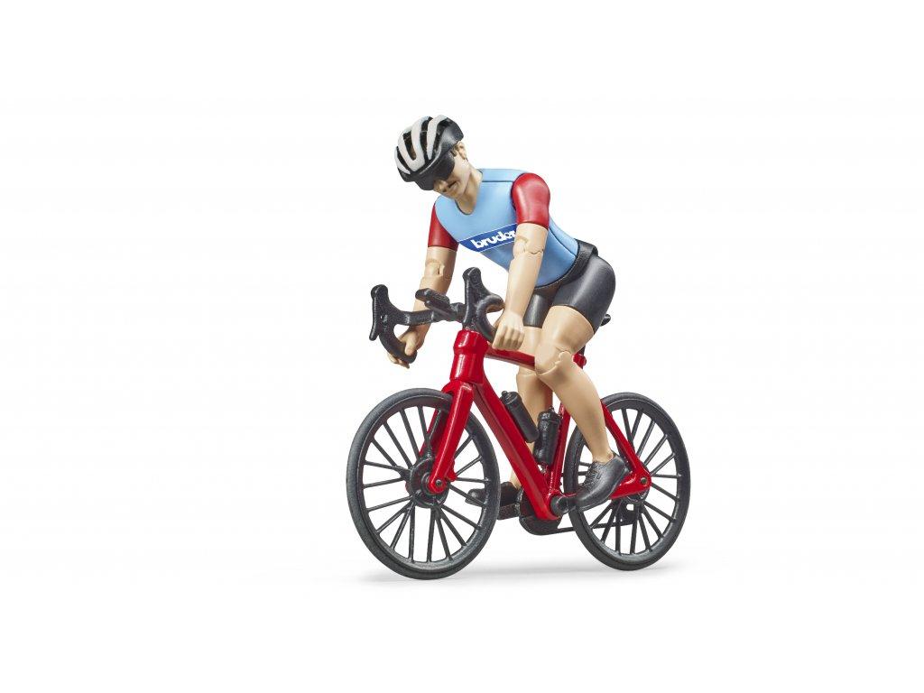 BRUDER 63110 bworld silniční  kolo s cyklistou