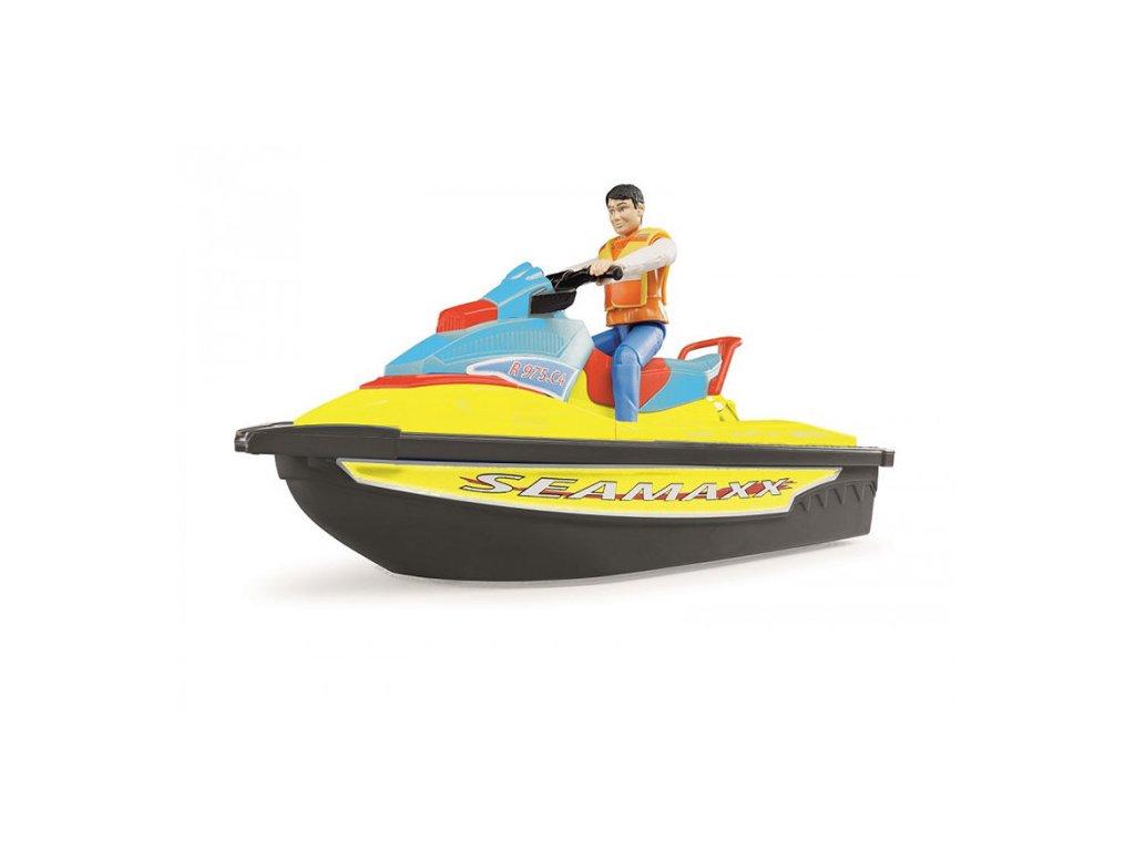 BRUDER 9042 Vodní skútr s řidičem - nová barva
