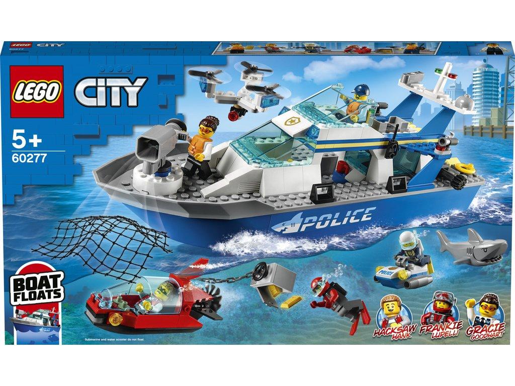 LEGO 60277 City Policejní hlídková loď