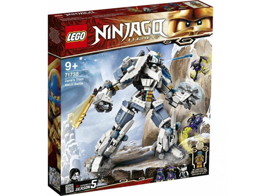 LEGO 71738 Ninjago Zane a bitva s titánskými roboty