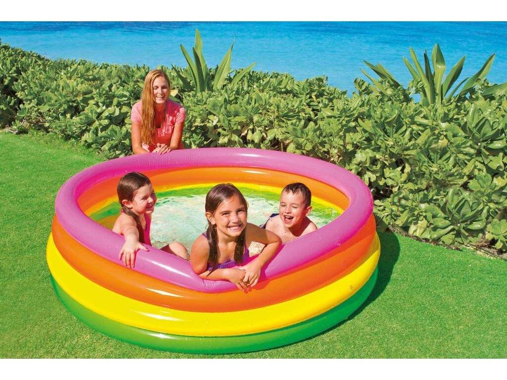 INTEX bazén 4 kruhy,168x46cm