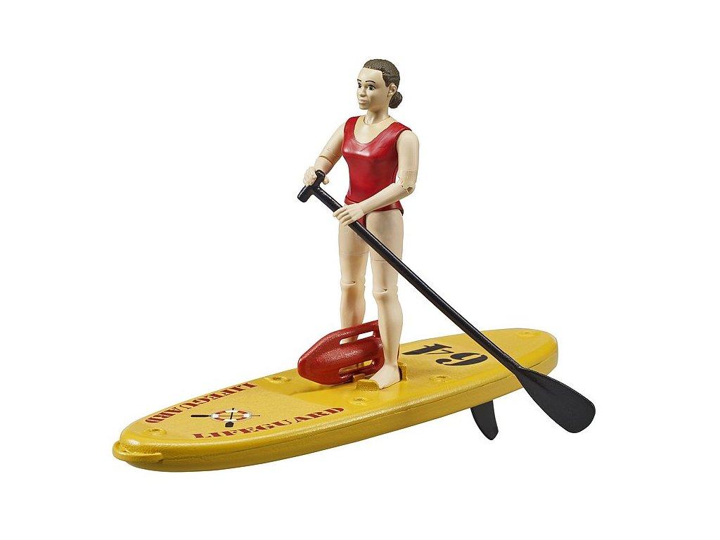 bworld zachránářský paddleboard s figurkou ženy