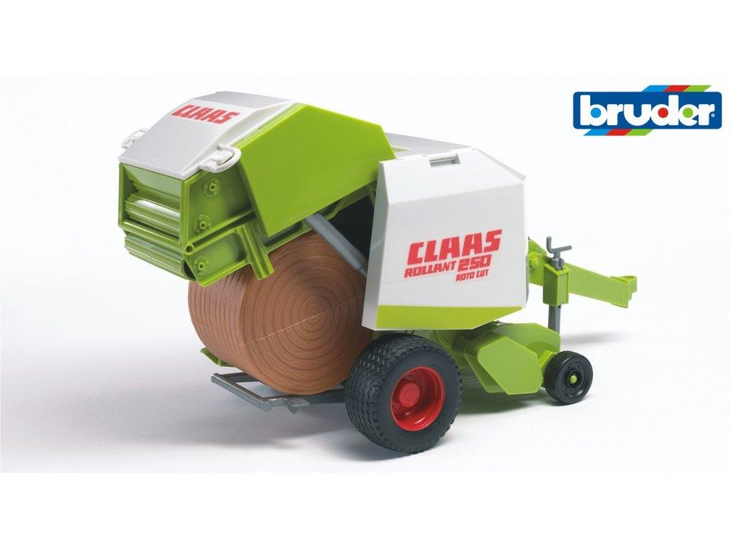 BRUDER 2121 Zeleno bílý BALÍKOVAČ slámy CLAAS Rollant 250