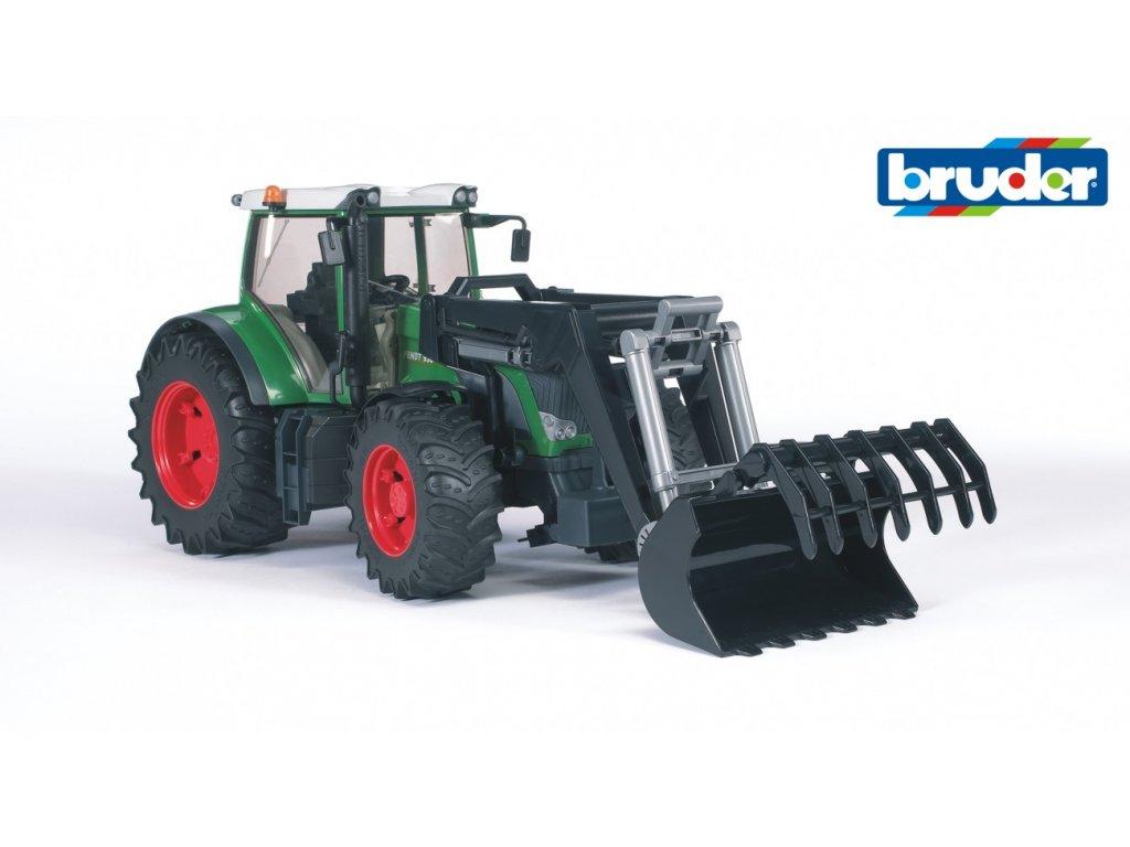 BRUDER 3041 Zelený TRAKTOR FENDT 936 VARIO s nakladačem