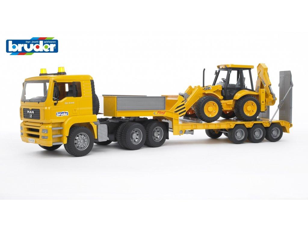BRUDER 2776 Žlutý NÁVĚS s JCB MAN TGA