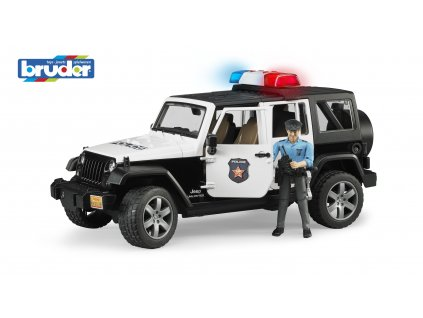 BRUDER 2526 Policejní AUTO JEEP WRANGLER RUBICON s figurkou