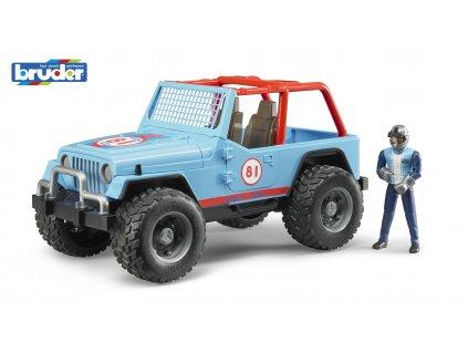 BRUDER 2541 Modré AUTO JEEP s řidičem