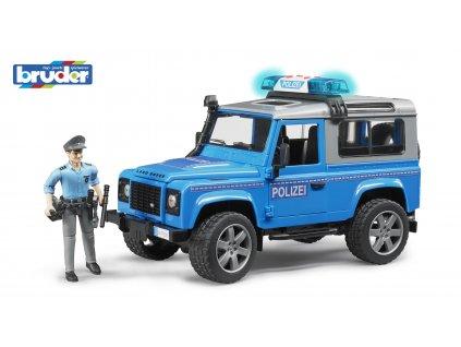 BRUDER 2597 Policejní  AUTO LAND ROVER S FIGURKOU