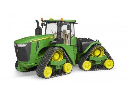BRUDER 4055 Traktor John Deere 9620RX s hnacím strojem