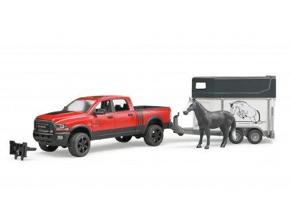 BRUDER 2501 Terénní auto RAM + přepravník na koně