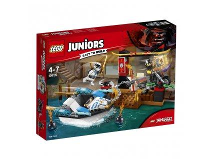 LEGO 10755 Juniors Pronásledování v Zaneově nindža člunu
